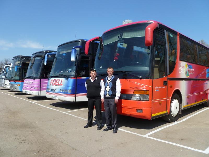 Автобусный парк транспортной компании Неотранс